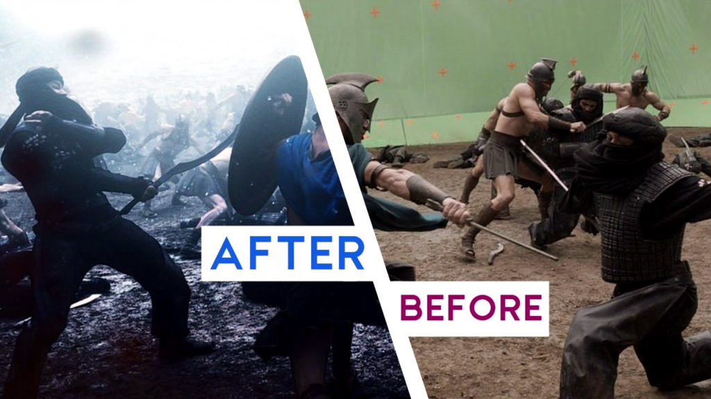 VFX Before and After Scene